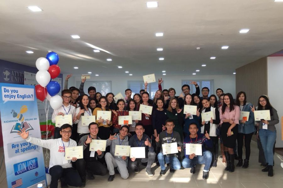 "25 November, 2018Congratulations to American Corner ""Spelling Bee"" winners in Oskemen and Atyrau."