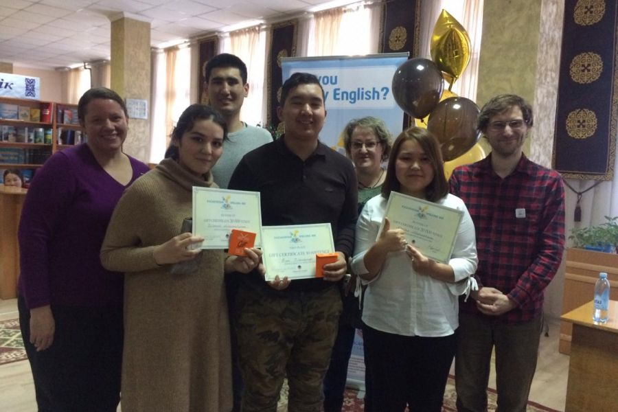 "25 November, 2018Today, American Corner in Shymkent was hold ""Spelling Bee"" competition."